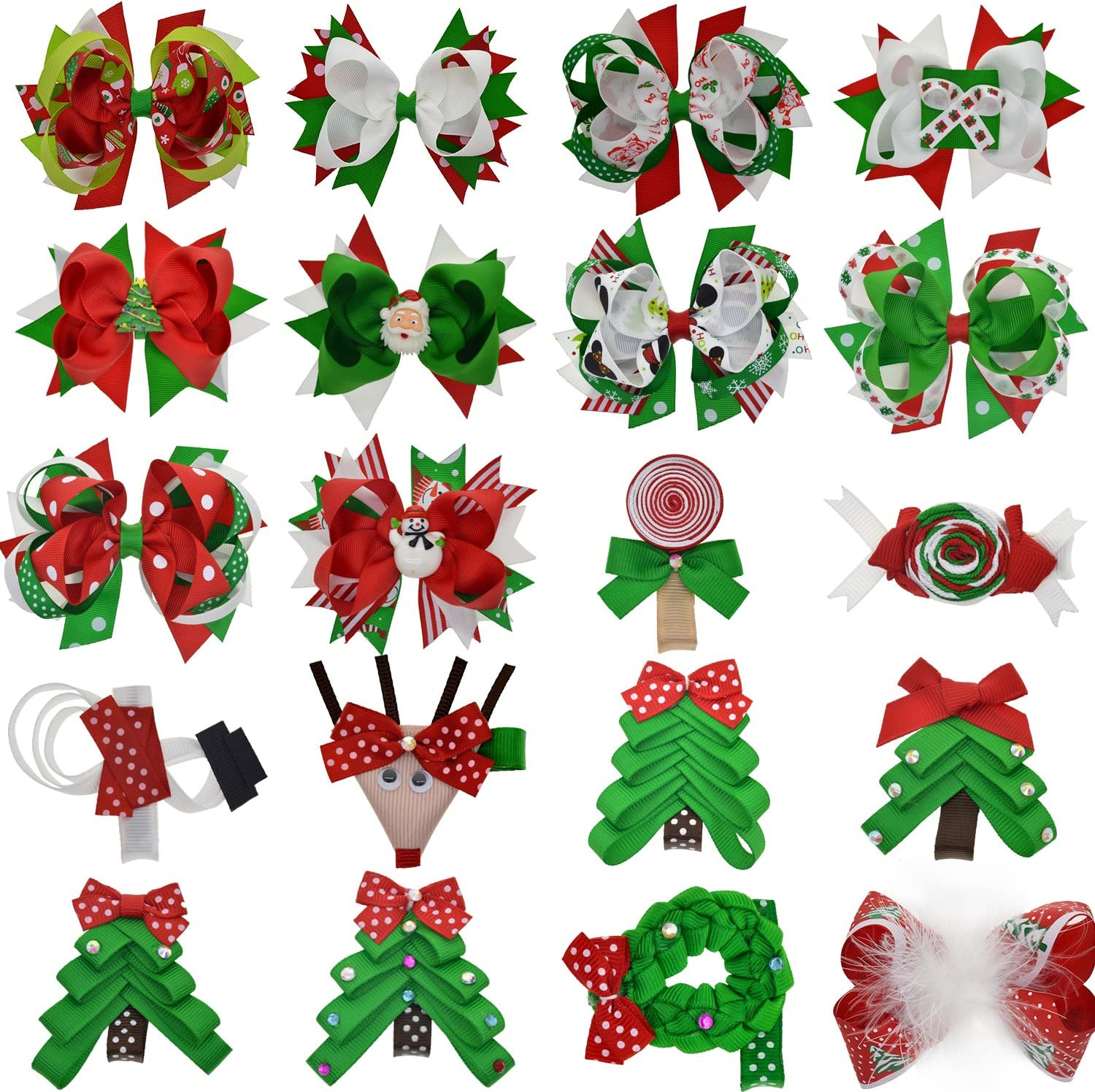 amazon com cute christmas hair bow for baby toddlers girls with xmas tree santa claus snowman decor health personal care cute christmas hair bow for baby toddlers girls with xmas tree santa claus snowman decor