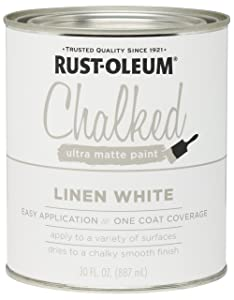 Rust-Oleum 285140 Ultra Matte Interior Chalked Paint 30 oz,Linen White