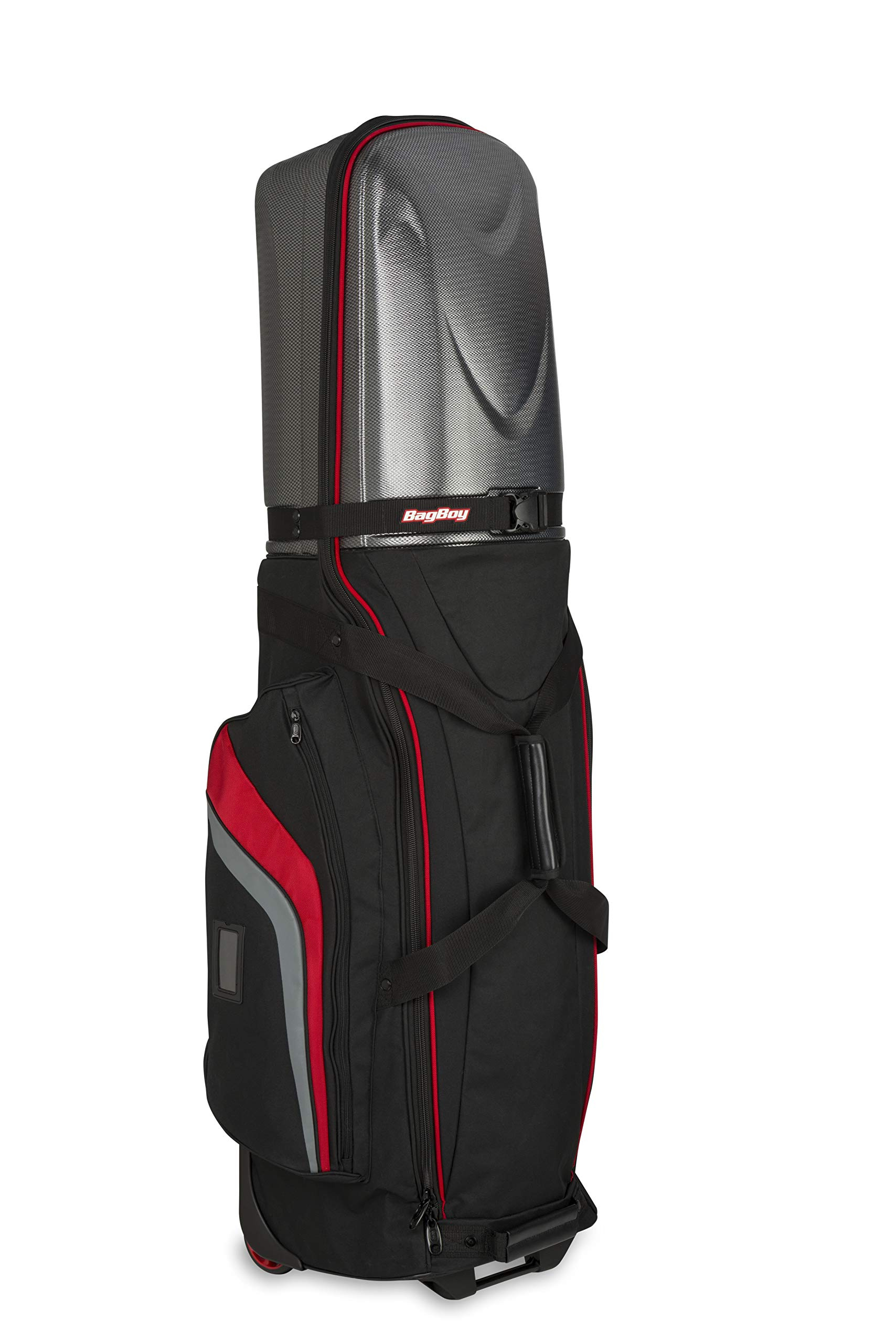Bag Boy Golf T-10 Hard Top Travel Cover (Black/Red/Charcoal, ) by Bag Boy