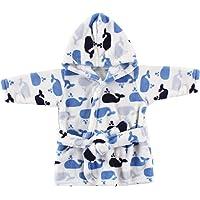 Luvable Friends Unisex Baby Plush Bathrobe, Blue, 0-9M