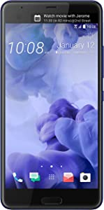 HTC U Ultra 64GB Unlocked GSM Android 7.0 with HTC Sense Smartphone Sapphire Blue (Dual-Display | 16MP+12MP Cameras | 3D Audio)