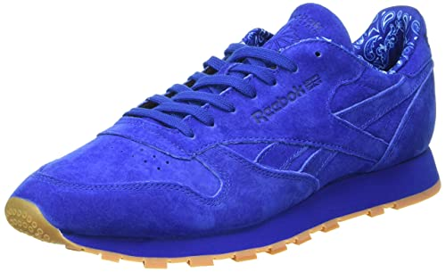 ecfd8021089 Reebok Classics Men s Cl Leather TDC Collegiate Royal and White Leather  Sneakers - 10 UK
