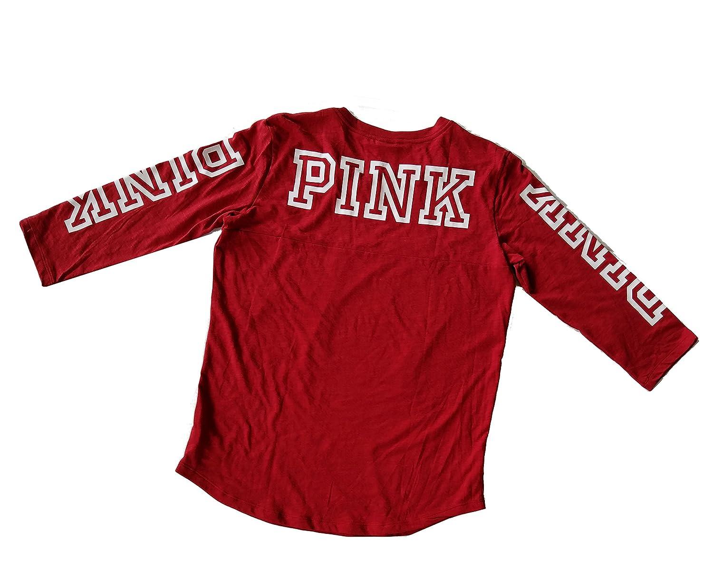 eba1cdd1cfa6d Victoria's Secret PINK Logo T-Shirt Tee Medium Red Wine at Amazon ...