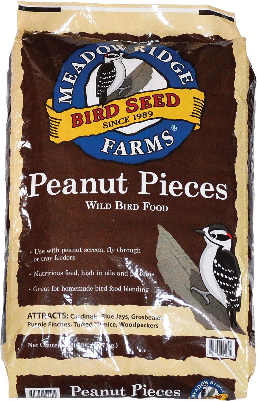 Meadow Ridge Farms Peanut Pieces Wild Bird Food, 20-Pound Bag