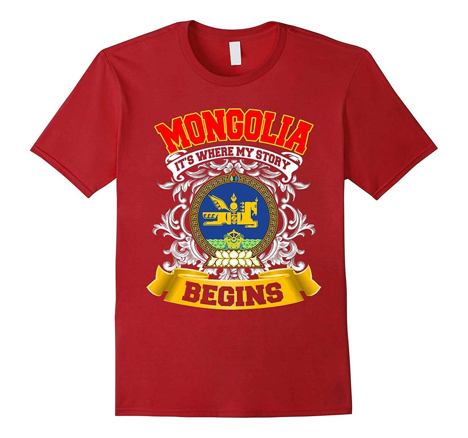 Mongolia-where my story begins tshirt-FL