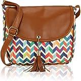 Kleio Women's Sling Bag (Eco2011Kl-M3 , Multicolor)