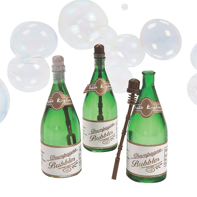 Amazon.com: Plastic Champagne Bottle Bubbles (pack of 12): Toys & Games