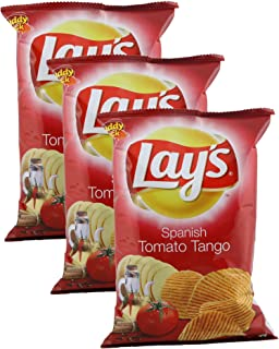 product image for Lay's Potato Chips, Spanish Tomato Tango, 52 grams - India. Pack of 3. Vegetarian