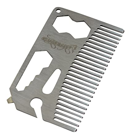 Guardman stainless steel multitool card with beer bottle opener hair guardman stainless steel multitool card with beer bottle opener hair comb and beard comb fathers day colourmoves