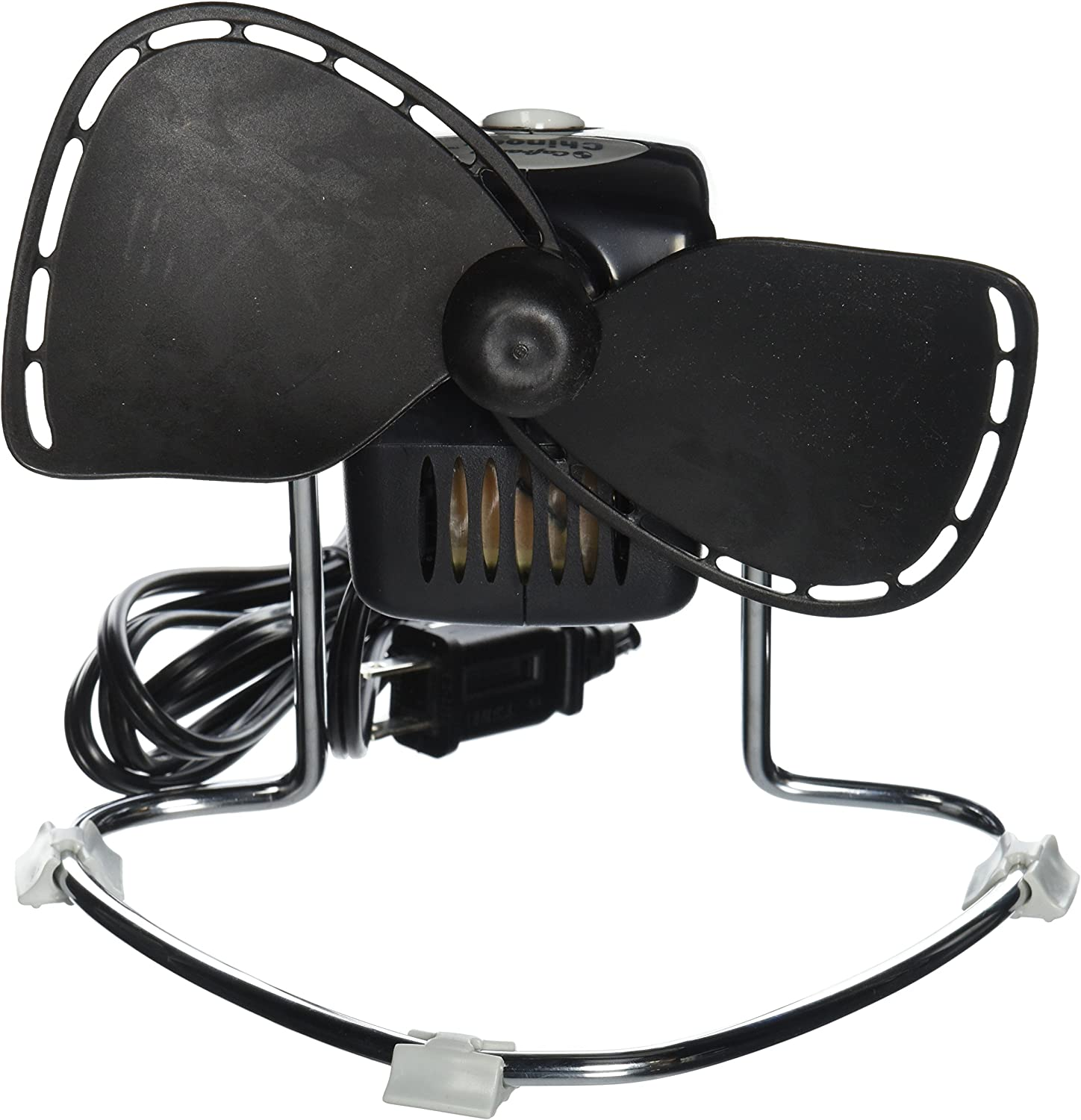 Caframo Chinook. 2-Speed Desk Fan. Cage Free, Easy to Clean. Canadian Made. Black