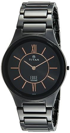 68d3a2233db Buy Titan Edge Ceramic Analog Black Dial Men s Watch-1696NC01 Online ...