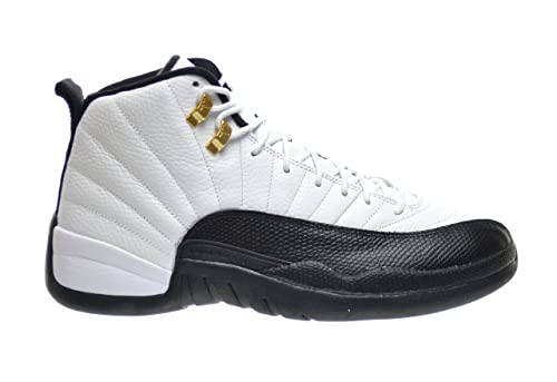 61cb66464995a Air Jordan 12 Retro Taxi Zapatillas de Baloncesto para Hombre Blanco Black-Taxi-Varsity  Rojo 130690 - 125  Amazon.es  Zapatos y complementos
