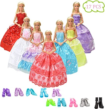 Lot 42 Pairs Brand New Beautiful Barbie Doll Shoes Xmas Birthday Gift