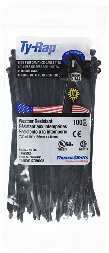 141425ad4794 Amazon.com: Thomas and Betts TR TY525MX Cable TIE 50LB 7