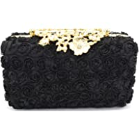 Tooba Handicraft Party Wear Beautiful Flower Box Clutch Bag Purse For Bridal, Casual, Party, Wedding