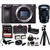 Sony Alpha a6500 Wi-Fi Digital Camera with (Body Only) w/Sony SELP18105G E PZ 18-105mm F4 G OSS + 64GB Bundle
