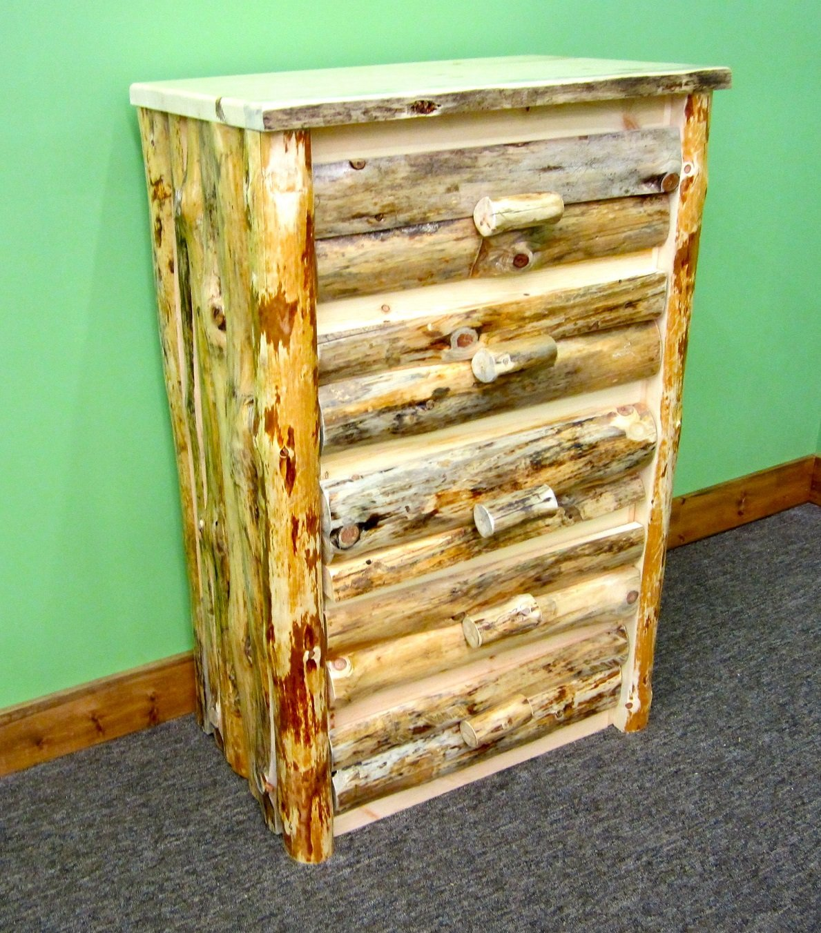 Amazon Com Midwest Log Furniture Rustic Log Dresser 5 Drawer