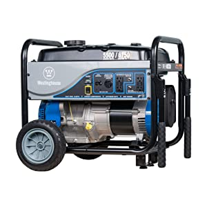 Westinghouse WGen5500 Gas Powered Portable Generator - 5500 Running Watts and 6850 Peak Watts - Gas Powered - CARB Compliant