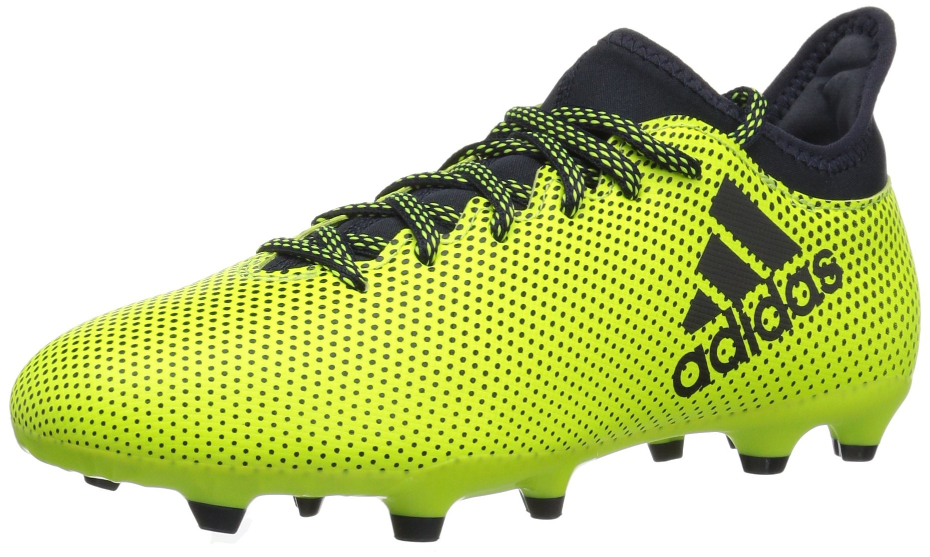 adidas Boys' X 17.3 FG J, Solar Yellow/Legend Ink/Legend Ink, 1 Medium US Little Kid by adidas
