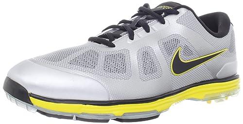 quality design c02fe 59fff Nike Golf Men s Nike Lunar Ascend-M, Stadium Grey Metallic Silver Black