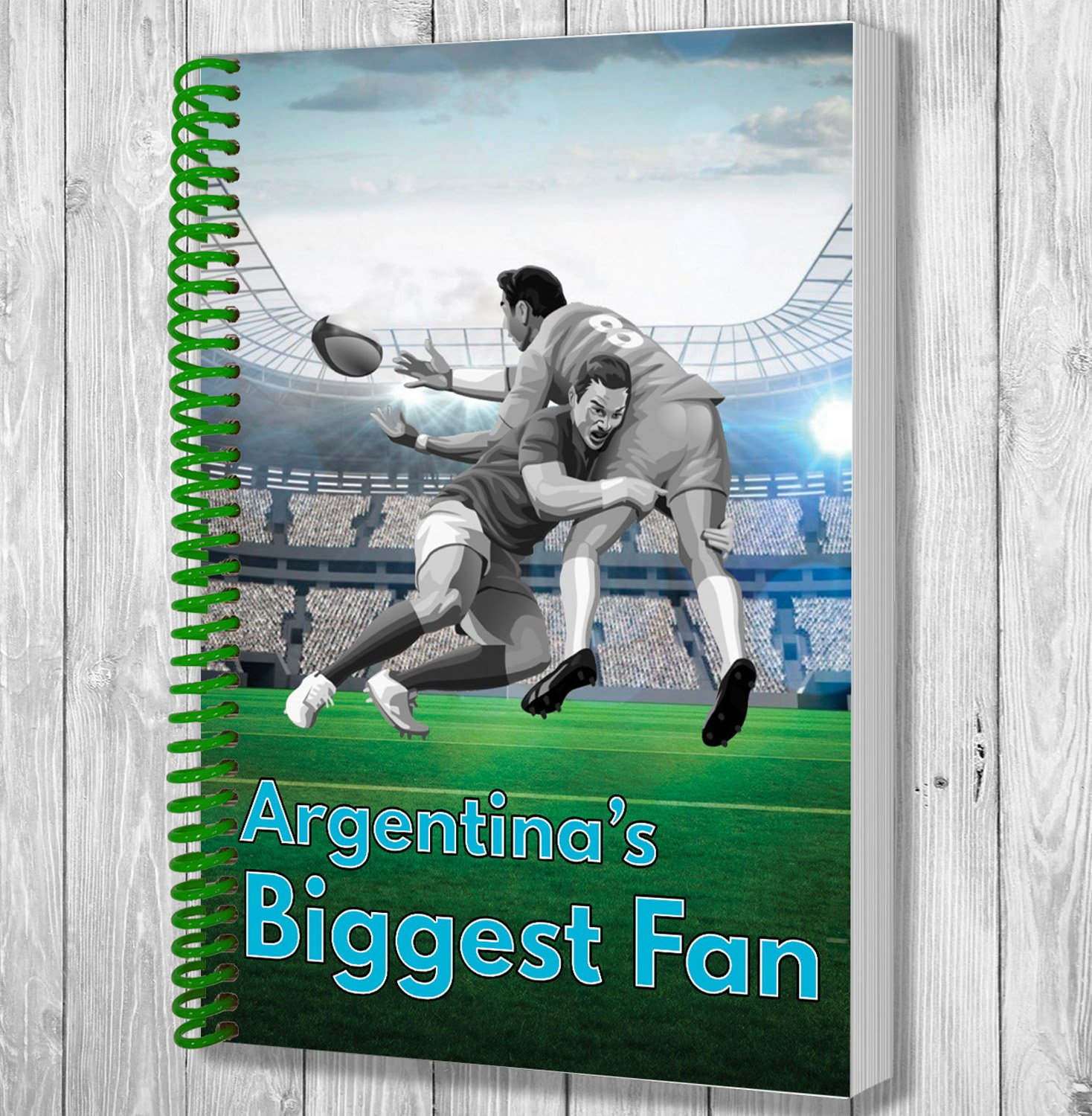 argentoina's Biggest Fan A5 Rugby Notebook   Notepad   Drawing Pad