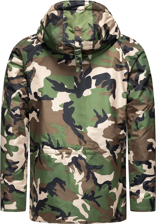 Redbridge Herren US Camouflage Parka College Mantel Jacken Sweatjacke Bomber Jacke Army F1JlKc