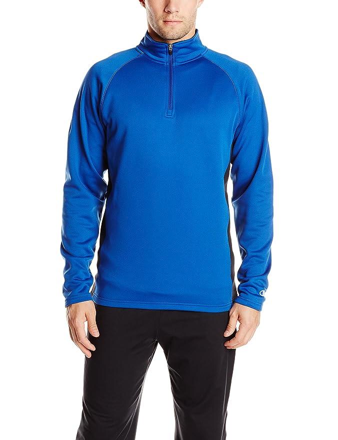 Champion Mens Performance Quarter-Zip Fleece Jacket