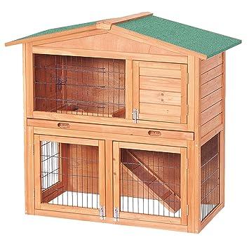 Conejera 2 niveles caseta roedores conejos animales pequeños jardín: Amazon.es: Electrónica