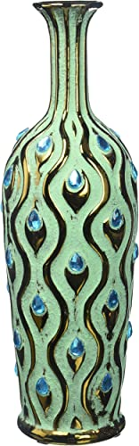 Home Decor Medium Peacock Jewel Vase