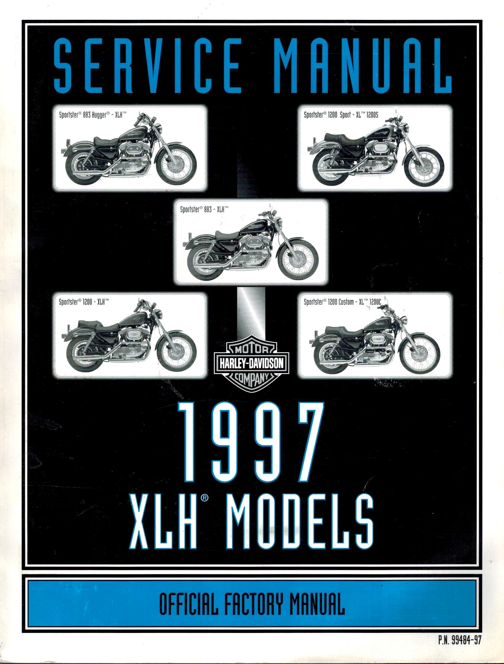 1997 Harley-Davidson XLH Models Official Factory Service Manual (P.N.  99484-97): Harley Davidson: Amazon.com: Books