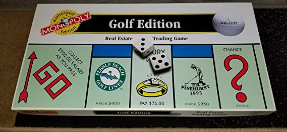 The GOLF EDITION of the MONOPOLY Game by Monopoly: Amazon.es: Juguetes y juegos