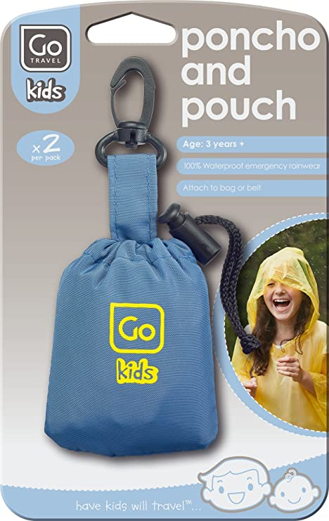 Design Go Kids Kinder Regenponcho 2 Stück blau/gelb