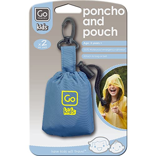 Go Travel Kids Poncho And Pouch Travel Accessory, Yellow