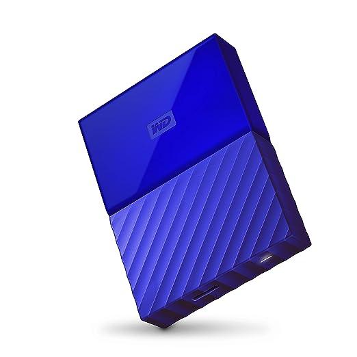 165 opinioni per WD 3TB My Passport Hard Disk Esterno Portatile, USB 3.0, Blu- WDBYFT0030BBL-WESN