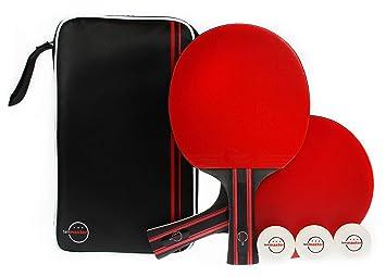3 Tischtennisbälle Tischtennisset 1A Tischtennis Set Duo 2 Tischtennisschläger