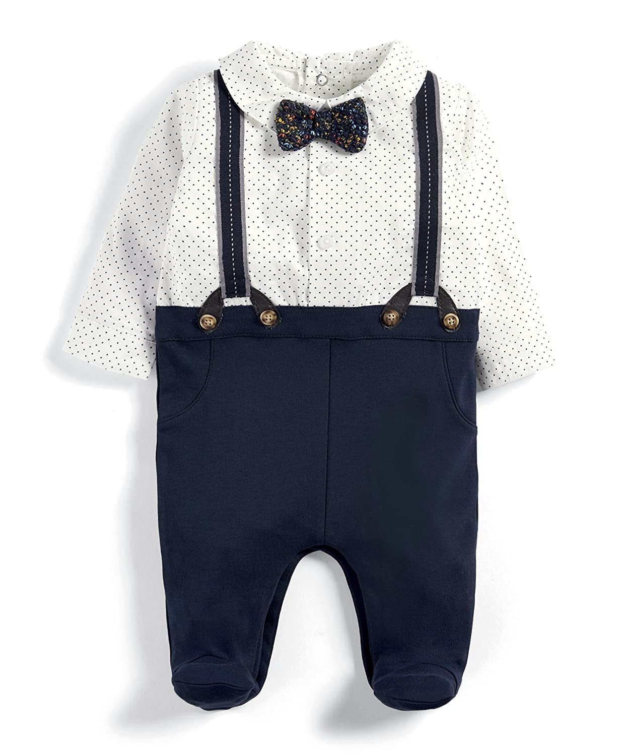Mamas & Papas Baby Boys' Mock Braces All in One Bodysuit Mamas and Papas