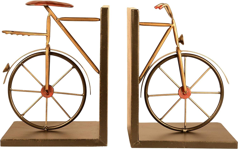 Markenzeichen Innovations 20,3/cm Buchst/ützen Fahrrad Schwarz Metall Set-Vintage Stil