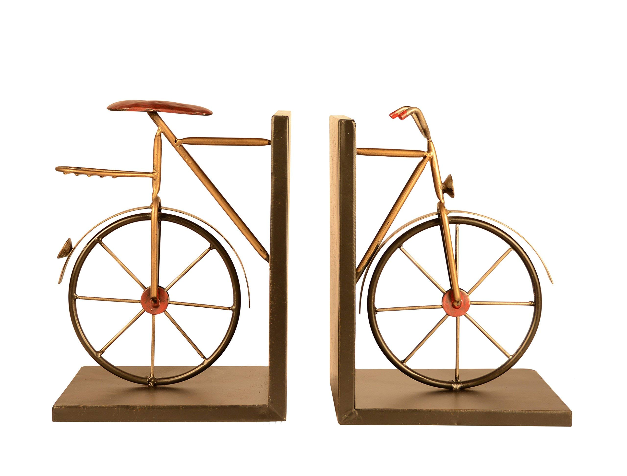 Ten Waterloo Bicycle Bookends Pair in Metal, 8 inches High x 6 inches Wide Each Piece, Cycling Bookends by Ten Waterloo