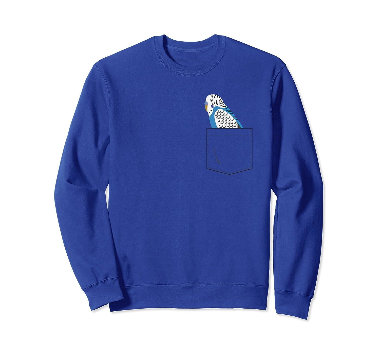 Blue Budgie Parakeet Parrot Your Pocket Sweatshirt-anz