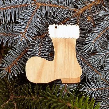 Baumschmuck Weihnachtsmotive Baumbehang   Deko Aus Holz Für Weihnachten,  Weihnachtsschmuck:Stiefel