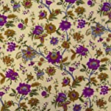 """Floral Printed Pure Cotton Fabric 42"""" Wide Dress Material Sewing Fabric By Per Yard"""