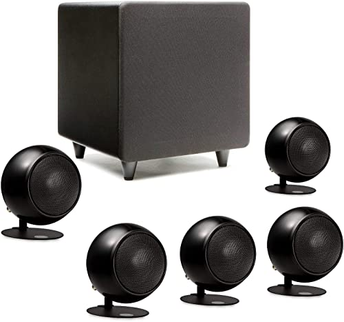 Orb Audio Mod1 Mini 5.1 Home Theater Speaker System – Surround Sound System – Includes 5 Orbs and 9 Subwoofer – Great for Movies Music, Outperforming Larger Subwoofers – Handmade in The US
