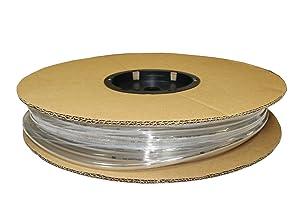 ATP PU06MEC Surethane Polyurethane Metric Plastic Tubing, Clear, 4 mm ID x 6 mm OD, 25 Meters Length