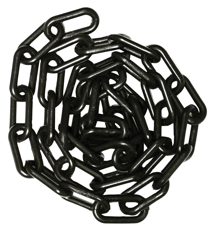 Mr. Chain 30003 25 Plastic Barrier Chain High Density Polyethylene with UV Inhibitors 1.5 Link x 25' Black