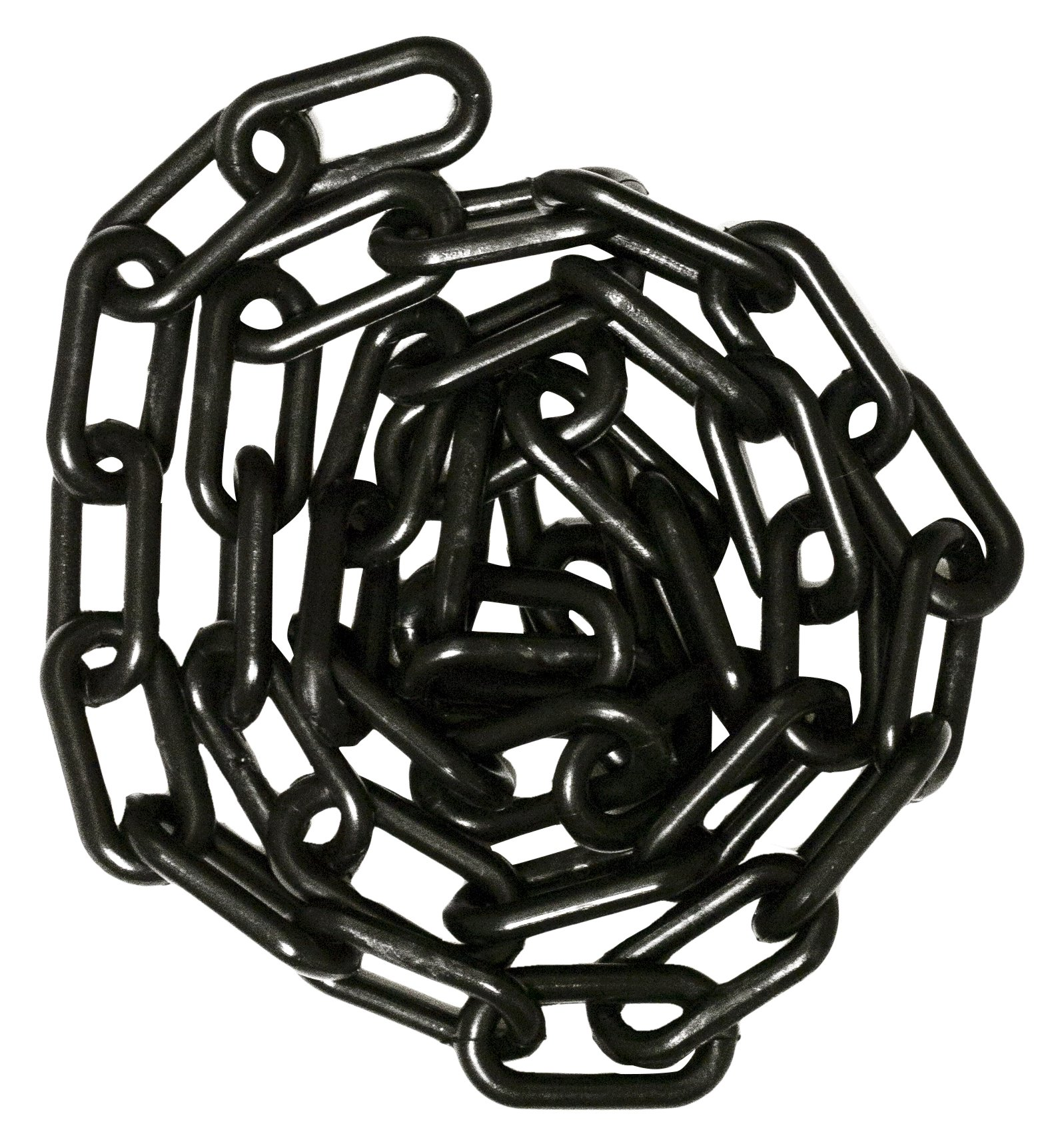 Mr. Chain 30003-25 Plastic Barrier Chain, High Density Polyethylene with UV Inhibitors, 1.5'' Link x 25', Black by Mr. Chain
