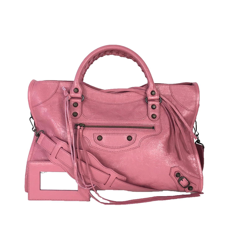 alta qualità anteprima di presa di fabbrica Balenciaga Classic Leather City Tote Bag, Rose Hortensia ...