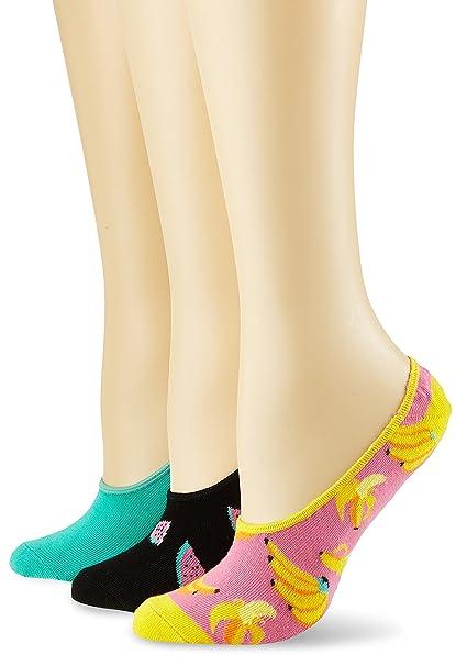 Happy Socks Limer, Calcetines Cortos para Hombre, Mehrfarbig (Koralle 3000), 41
