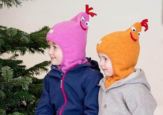 377f078c6be Amazon.com  Pickapooh Hat 100% Merino Wool Balaclava Baby Boy Girl Children  Fleece Winter Max  Clothing