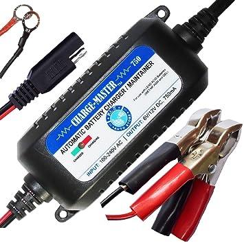 12 V/6 V - 0.75 A Trickle cargador/Mantenedor de Batería ...