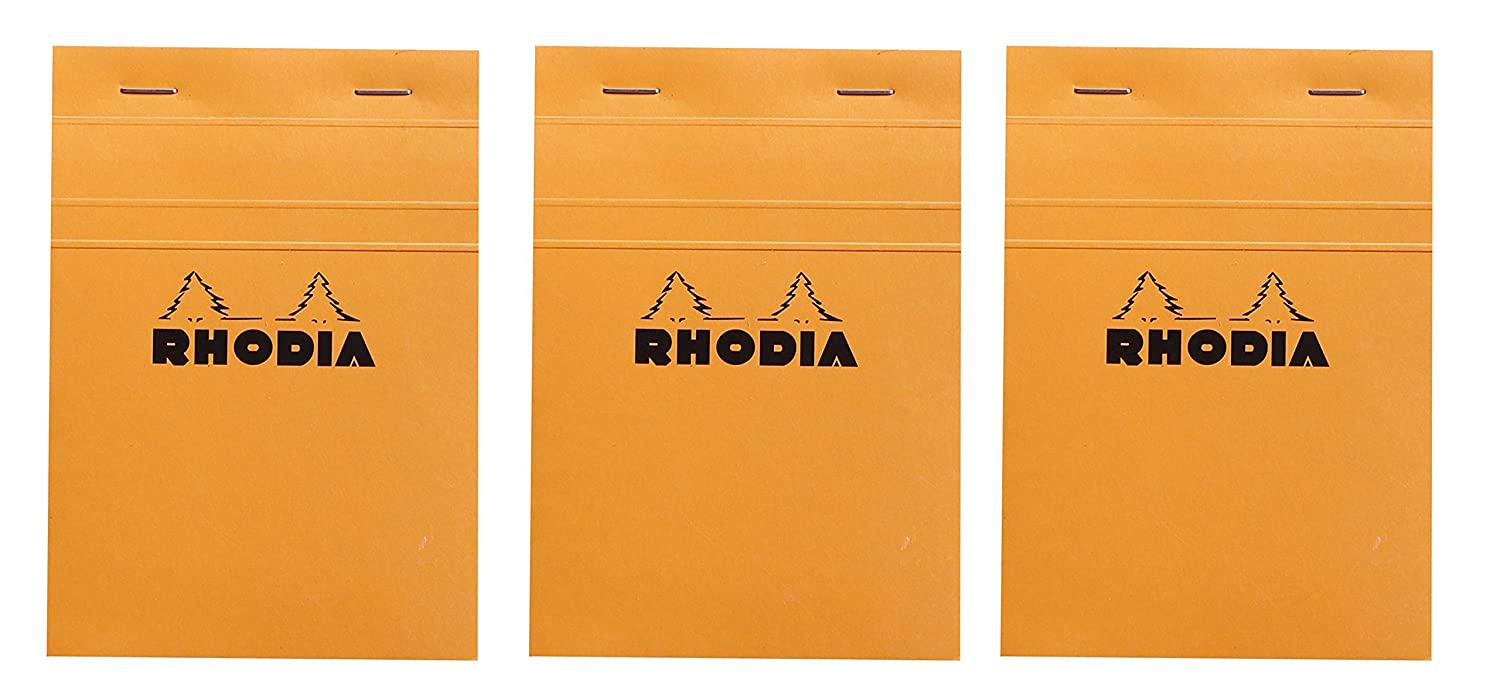 x 8-1//4 in Rhodia Classic Orange Notepad graph Pack of 3 6 in